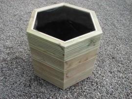 Hex Decking Planter 800mm x 800mm 4 Tier