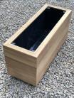 Premium Iroko Hardwood Planters 900mm x 300mm 3 Tier